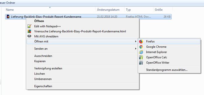 Lieferung html File